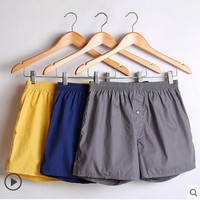 3 Pcs/Lot Mens Underwear Boxers Shorts 100% Cotton Fashion Underwear Sexy Soft Solid Boxer Male Panties Comfortable Breathable