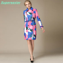 New Fashion Women Double-breasted Trench Coat Long Sleeve Coats Outwear 2016 Women Summer Winter Thin Windbreaker