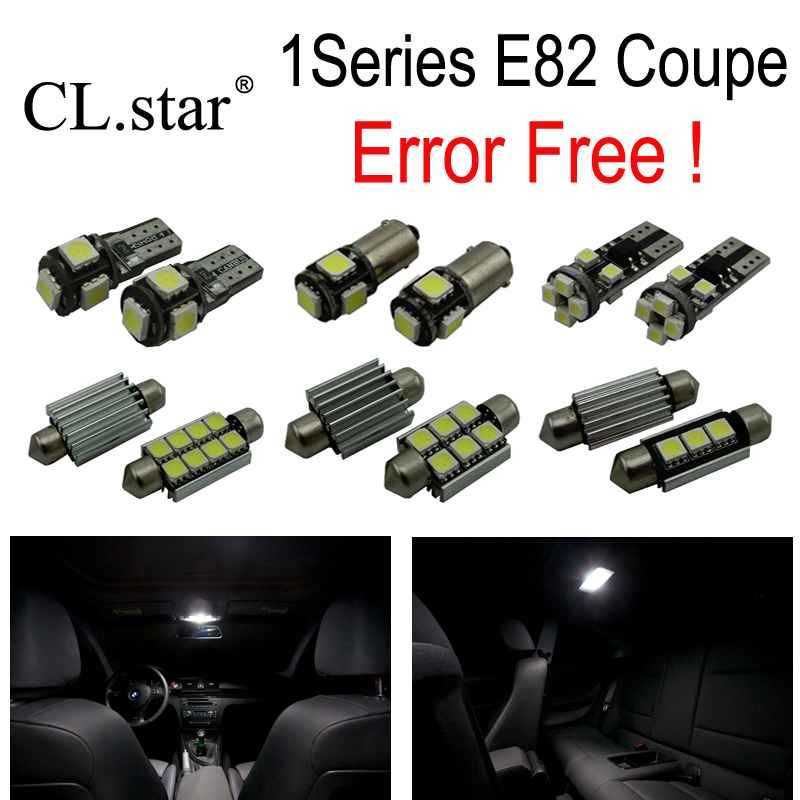 19pc x Canbus LED interior dome reading Light Kit for 2007-2013 BMW 1 series E82 Coupe 120i 125i 135i 120d 123d 1M cawanerl car canbus led package kit 2835 smd white interior dome map cargo license plate light for audi tt tts 8j 2007 2012