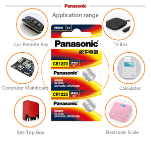 Image 2 - 5PCS/LOT Original Panasonic CR1220 Button Cell Batteries CR 1220 3V Lithium Coin Battery BR1220 DL1220 ECR1220 LM1220