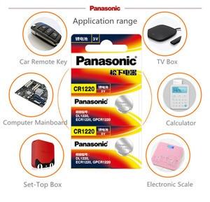 Image 2 - Panasonic pilas de botón CR1220 CR 1220 3V, 5 unidades/lote, batería de litio BR1220 DL1220 ECR1220 LM1220