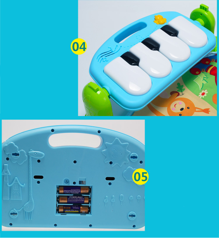 3 in 1 Baby Play Mat Rug Toys Kid Crawling Music Play Game Developing Mat with Piano Keyboard Infant Carpet Education Rack Toy