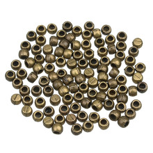 100pcs/lot Hole Size 3mm Metal Leather Cord End Caps Beads Antique Bronze/Silver for Necklace Bracelet Jewelry Making