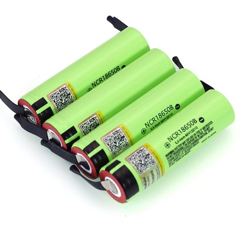 Liitokala новые оригинальные NCR18650B 3,7 В 3400 мАч 18650 литиевая аккумуляторная батарея, сварочные никелевые листовые батареи