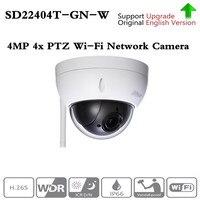 Original ahua english Brand SD22404T GN W WiFI IP 4MP HD Network Mini PTZ Dome 4x optical zoom wireless IP Camera SD22404T GN W