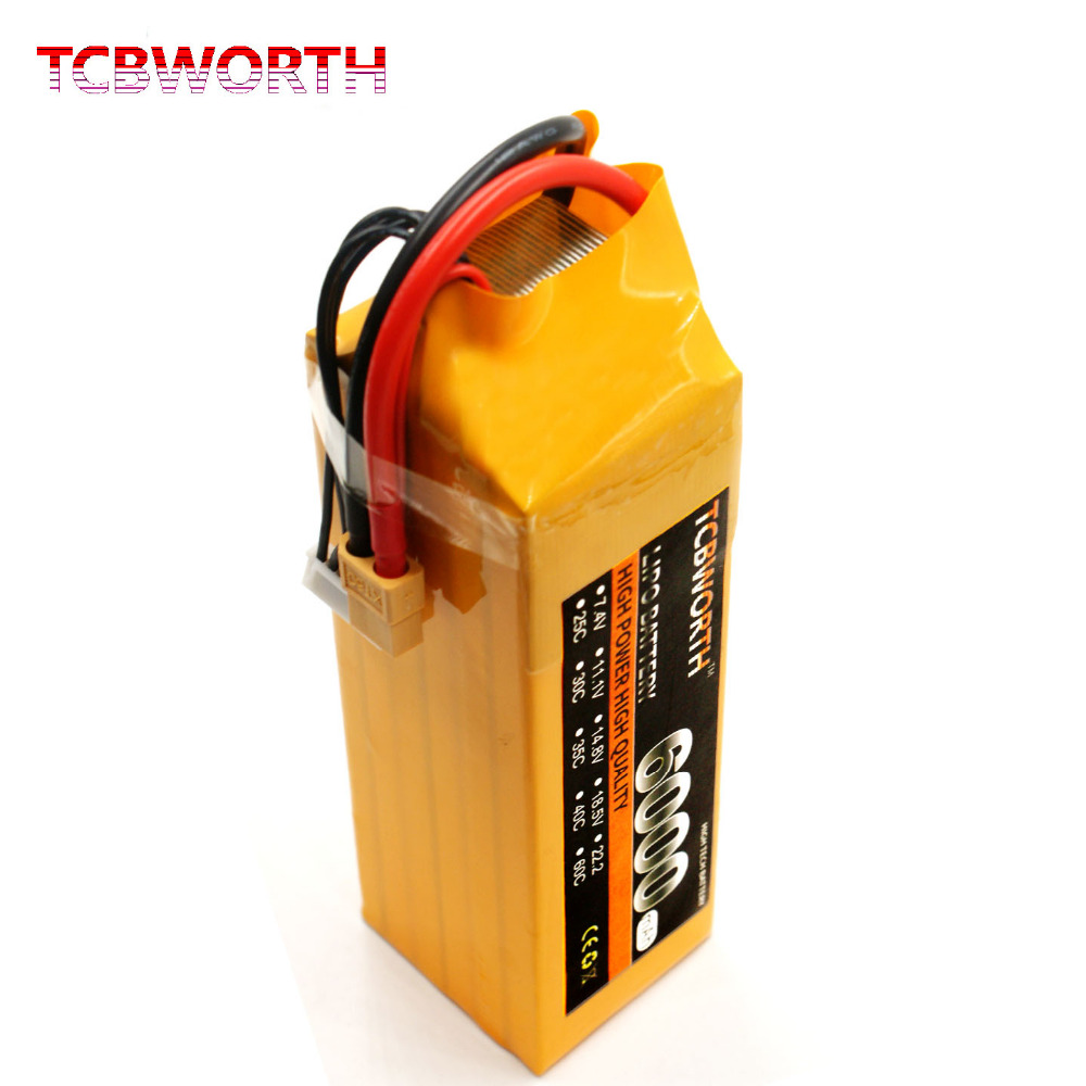 TCBWORTH 6S 22.2V 6000mAh 40C-80C RC Airplane LiPo battery FOR RC car drone quadrotor AKKU Batteria mos 2s rc lipo battery 7 4v 2600mah 40c max 80c for rc airplane drone car batteria lithium akku free shipping