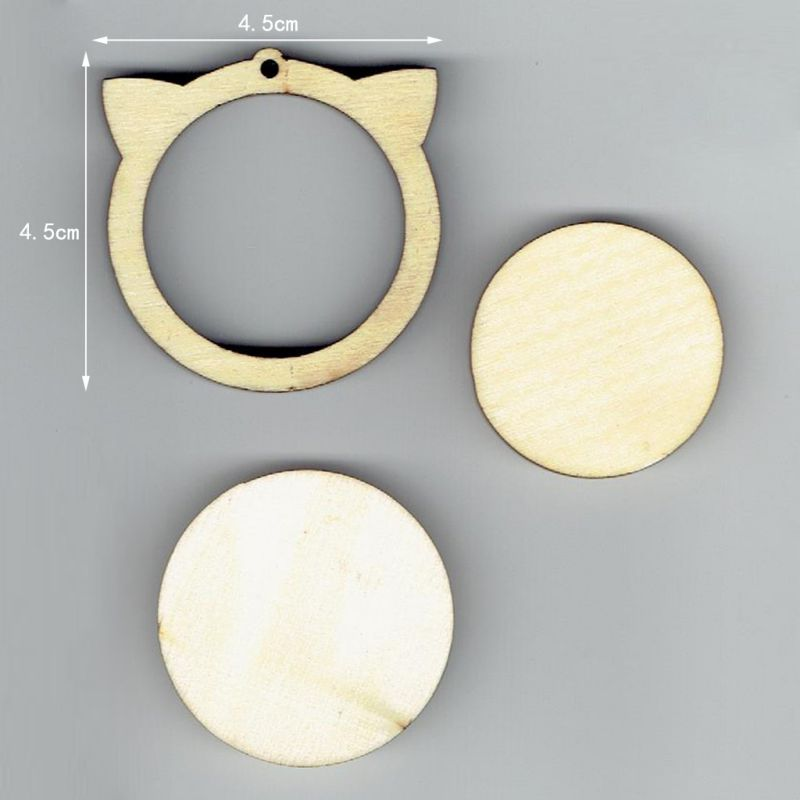 Wooden Embroidery Frame Cute Mini Stitching Hoop Diverse Small Hand Stitching Circle Cross Circle Frame DIY Gift Accessories