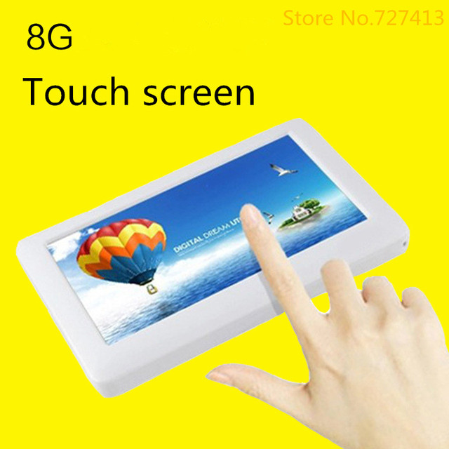 4.3 -inch touch screen mp4 music player, 8 g, video player free shipping,3 color