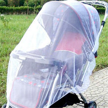 2019 New Newborn Toddler Infant Baby Stroller Crip Netting Push chair Mosquito Insect Net Safe Mesh White(China)