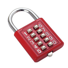 5 Digit Push Button Combination Padlock Silver Number Luggage Travel Code Lock Accessories