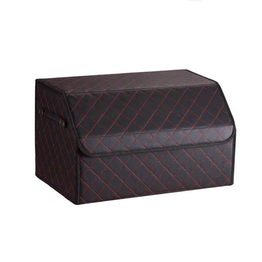 Organisateur de rangement polyvalent pliable pour coffre de voiture avec couvercle-boîte de rangement Portable pour voiture