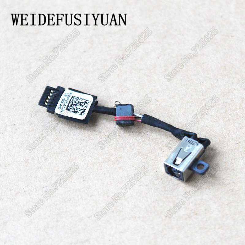 New DC Jack Power Harness Cable For DELL XPS 13 9343 9350 9360 0P7G3 00P7G3 Laptop Charging Port Socket Connector new dc power jack socket connector wire harness for laptop dell inspiron 15 3558 5455 5000 5555 5575 5755 5758
