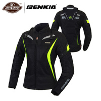 Benkia мотоцикл Летняя Куртка Мото дышащий средства ухода за кожей панцири куртка для гоночного мотоцикла Jaqueta Motoqueiro костюмы для женщин