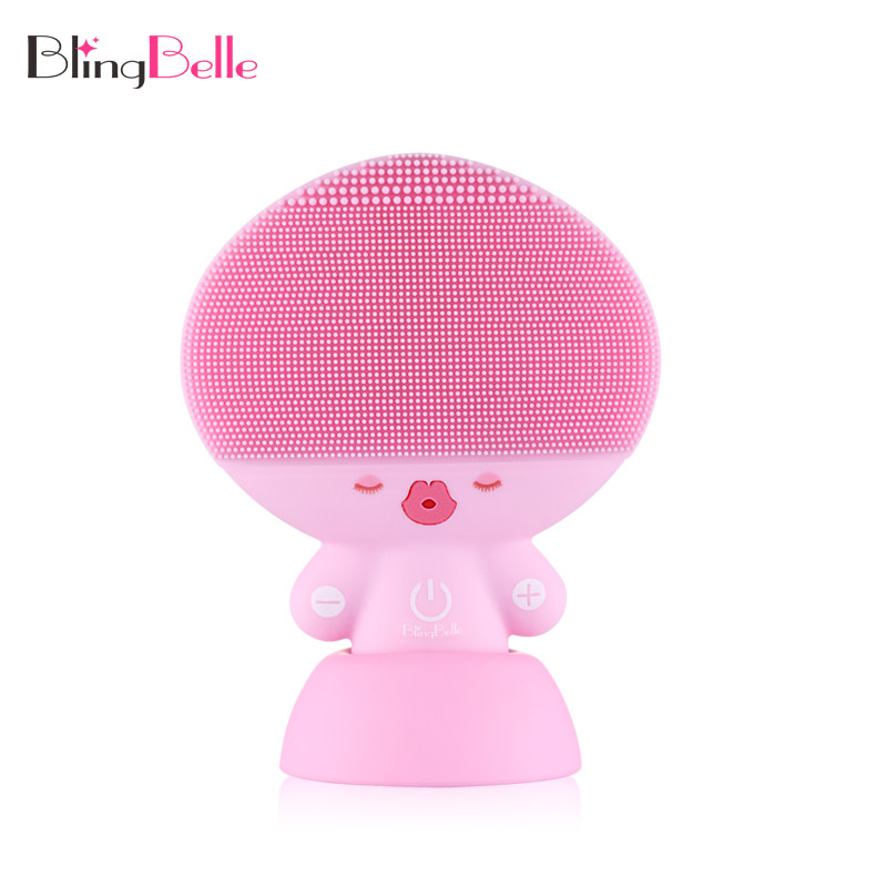 Face Cleansing Ultrasonic Facial Cleaning Brush Silicone Cleaner Electric Vibrate Pore Clean Silicone Cleansing Brush Tool laptop keyboard for lg p330 black without frame it italian sn7115 sg 48500 2ia
