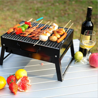 Wnnideo Portable BBQ Grill Charcoal Barbecue Table Top Coal Collapsible Camping Outdoor Garden Grill BBQ