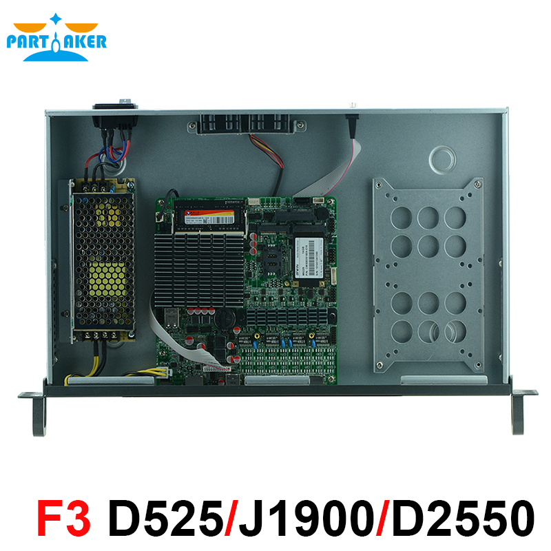 1U брандмауэр сети VPN Security Appliance Atom D2550 4*82583 В LAN