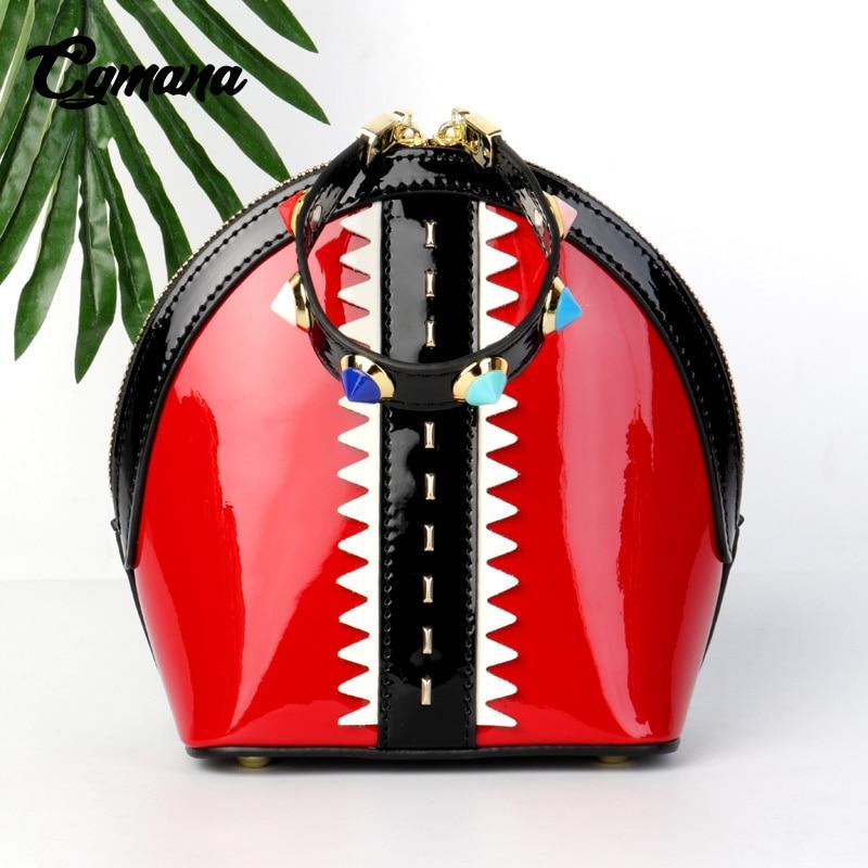Main 2018 Feminina Femmes Cgmana Luxe rouge Noir vert Designer À rose Pour Mini De Sacs Pochette Sac Bandoulière Nouveau Coquille qWCE4EwF