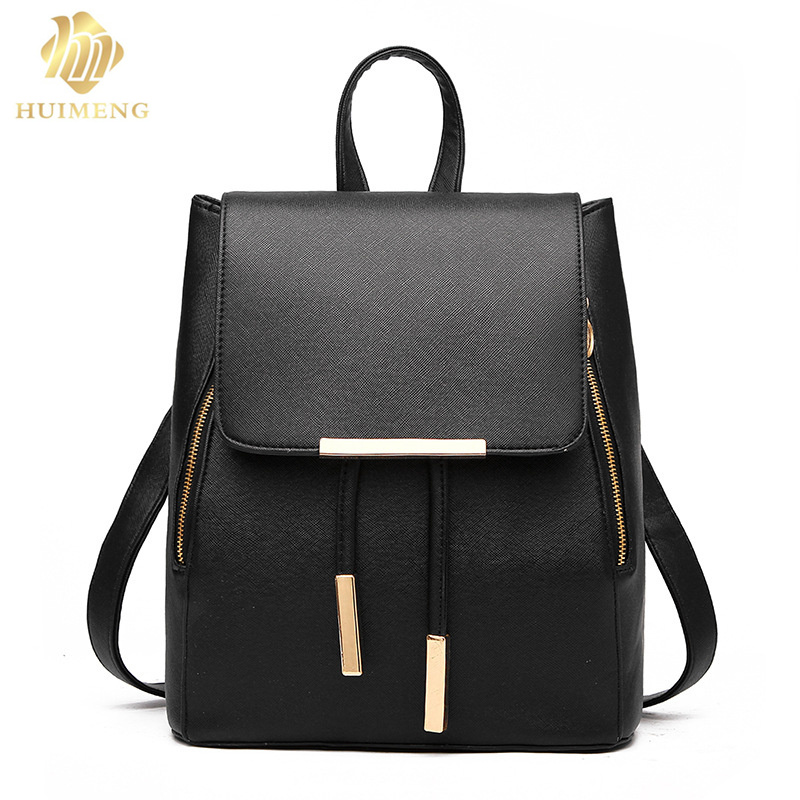 2017 Women Backpack High Quality PU Leather Mochila Escolar School Bags For Teenagers Girls Casual style Backpacks Travel Bags