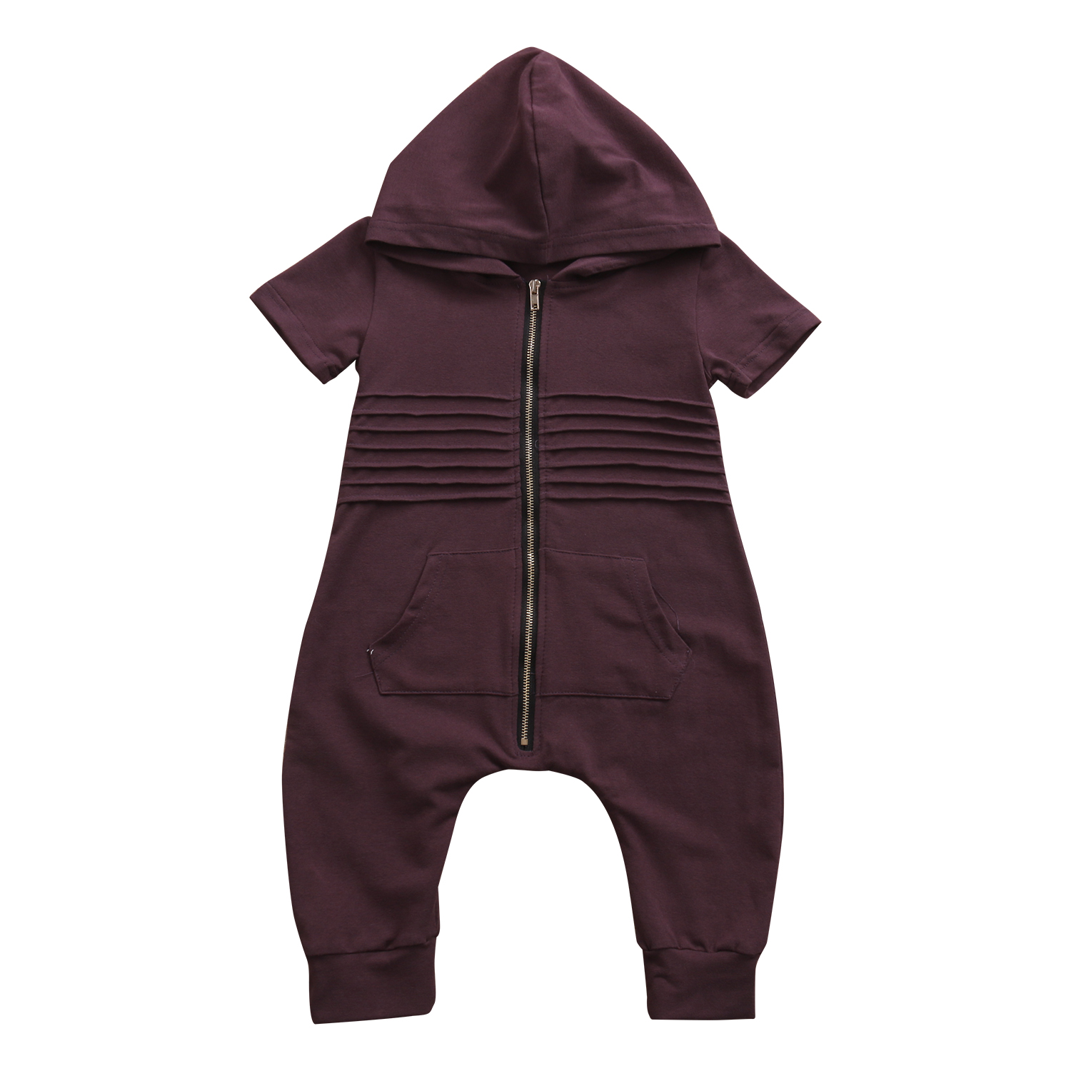 Hot Babies Casual Toddler Infant Newborn Baby Boys Hooded Zipper Romper Jumpsuit Playsuit Clothes