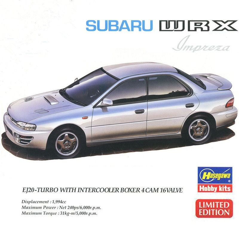 1/24 Subaru Imparez Wrx Sports Car 20333-in Model Building