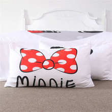 Mickey Minnie Mouse Printed Bedding Sets Girls Children's Babys Bedspreads Woven 400TC Twin Full Queen King Size White Black Red