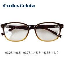 Óculos de leitura masculinos grandes, antirreflexivos, 0 + 0.25 + 0.5 + 0.75 + 1 + 1.25 + + 1.5 + 1.75 + 2 + 2.5 + 2.25 + 2.75 + 3.5 + 3 + 3.25 + 3.75