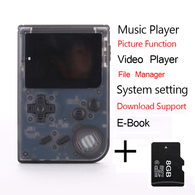 Portatil De Mano 32bit Consola Retro Soporte Descarga Mini Jugador
