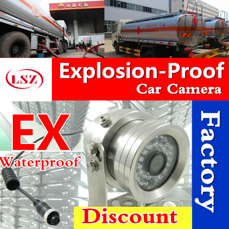 ex camera explosion-proof car camera waterproof on-board monitoring camera for oil tank car factory batch approval cctv cctv security explosion proof stainless steel general bracket
