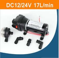 FL 40 FL 44 DC 12V 24V 17L/min 40psi Water Pump Micro Diaphragm Pump Great For Marine and RV Recreational Vehicle Irrigation Use