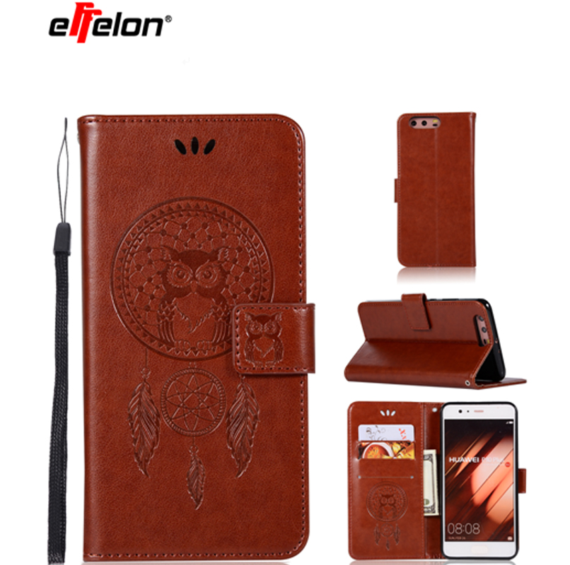 New Case For Huawei P10 Plus PU Leather Case 5.2inch Stand Function Card Holder Embossed Owl Magnetic Flip Wallet Purse Case
