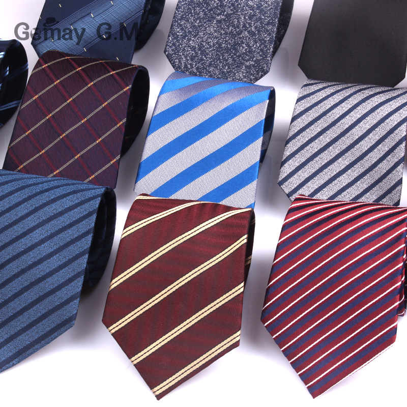 New 100% Silk Neck Ties For Men Fashion Classic Jacquard Striped Ties For Man Red Blue Navy Necktie For Gift Party Stripe Tie