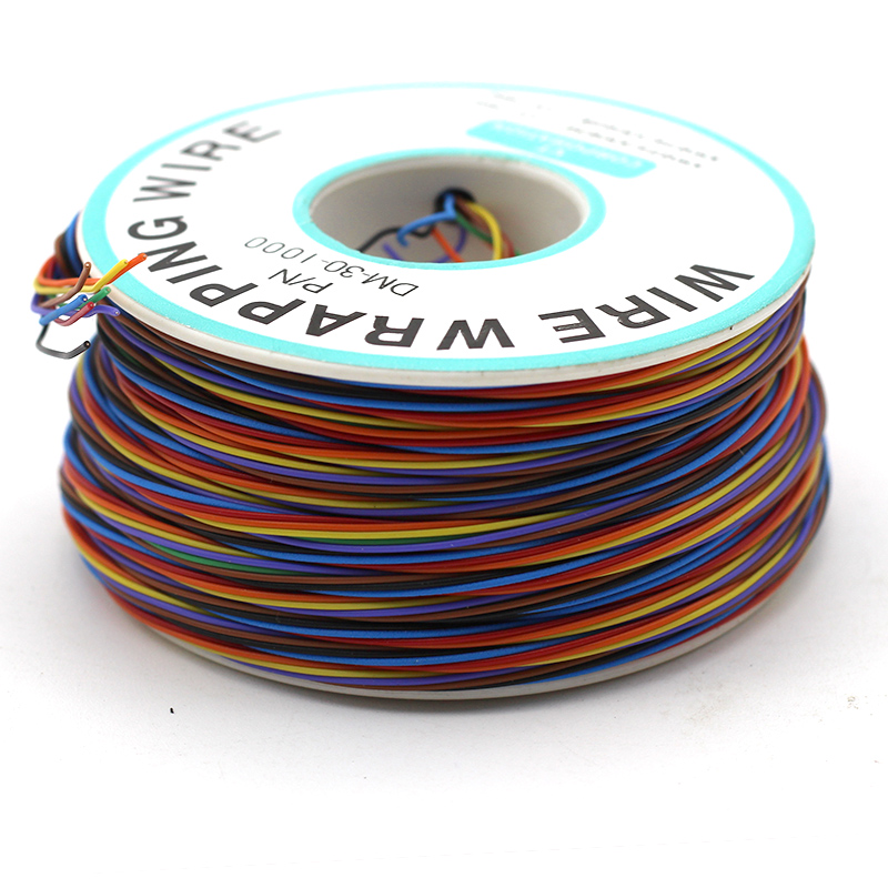 8 Colors 30AWG Wire Wrapping Tinned Copper Solid PVC insulation Single Strand Copper Cable Ok Wire Electrical Wire Wrap Tool