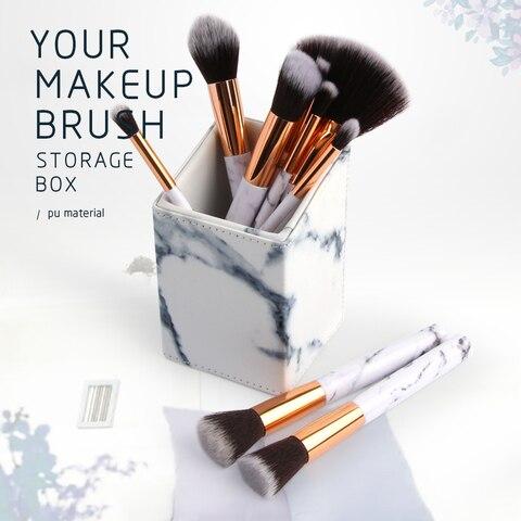 PU Leather Travel Cosmetic Brush Storage Makeup Brush Bucket Makeup Bag Brushes Organizer for Cosmetics Makeup Brush Tools Kit Karachi