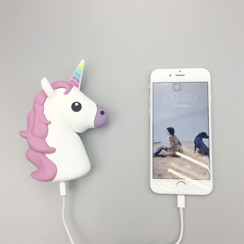 Power Bank Unicorn Portable Charger Power Bank 2600mah 5v
