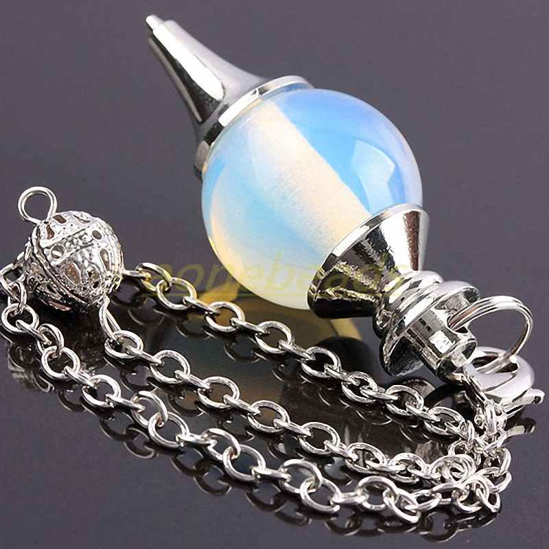 UK Amethyst Gemstone Pendulum Divination Dowsing Reiki Chakra Ball Pendant