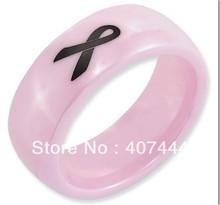 El Envío Gratuito Precio Barato 2013 EE.UU. Venta Caliente 8 MM cúpula de Color Rosa Brillante Cinta Cerámica Su/Su Classic Wedding Band anillo