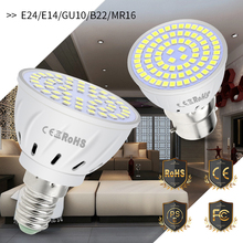 GU10 Led Spotlight E27 Light Bulb E14 Foco Led Bombillas MR16 220V Spot lamp Led Ceiling Light 4W 6W 8W Energy Saving Lamp 2835 цена