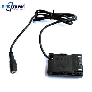 Image 4 - DR E6 Dc カプラーコネクタ LP E6 ダミーバッテリーフィット外部電源の充電器キヤノン EOS 5D マーク II III EOS 5D2 5D3 6D 7D 60D 5D2