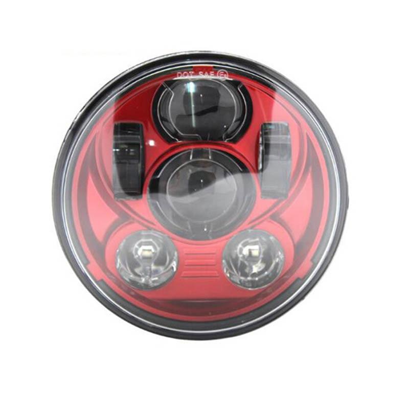 Motor Bike 5 75 5 3 4 inch Headlight Red Black Sliver Orange Blue For Sportster