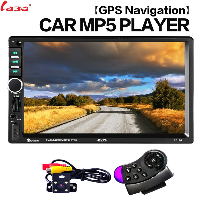 2 Din Car Multimedia Player+GPS Navigation+Camera Map+Frame 7'' HD Touch Screen Bluetooth Autoradio MP4 MP5 Video Stereo Radio цена 2017