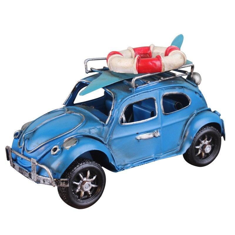 Métal fer artisanat Beetle voiture modèle jouet classique voiture rétro Taxi modèles Table décoration Collection jouets pour enfants cadeau