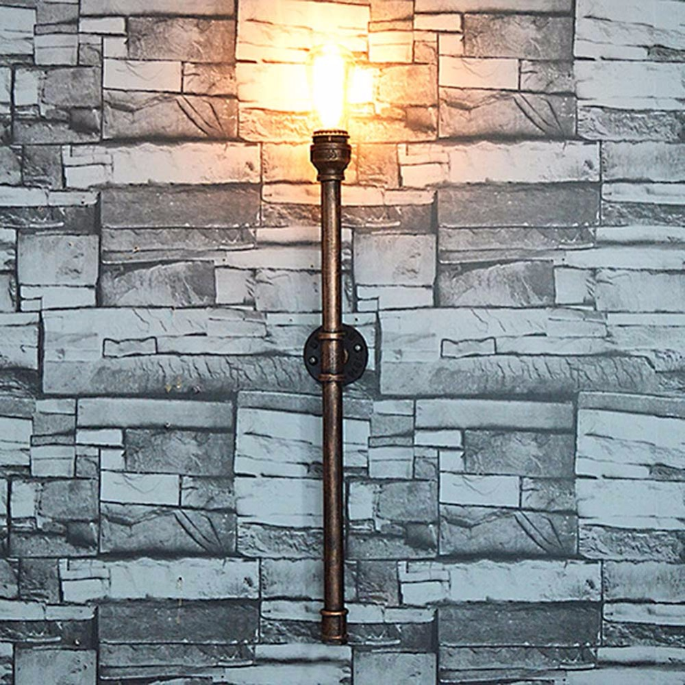 ФОТО E26/E27 Bulb American Village Loft Industrial Edison Style Vintage Wall Light Lamp Retro Water Pipe Lamp Wall Sconce Home Lamp