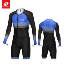 NUCKILY Triathlon suit Special Long Sleeve Cuff Cycling Clothing Bike Uniform Jersey Set MR003 nuckily summer mens bicycle apparel breathable phoenix eyes long sleeve cycling jersey with tights suit mc010md010