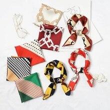 NEW Fashion Top Quality Multicolor Square silk Scarf for women Elegant Small Neck Satin bandana hip hop Pocket scarf men
