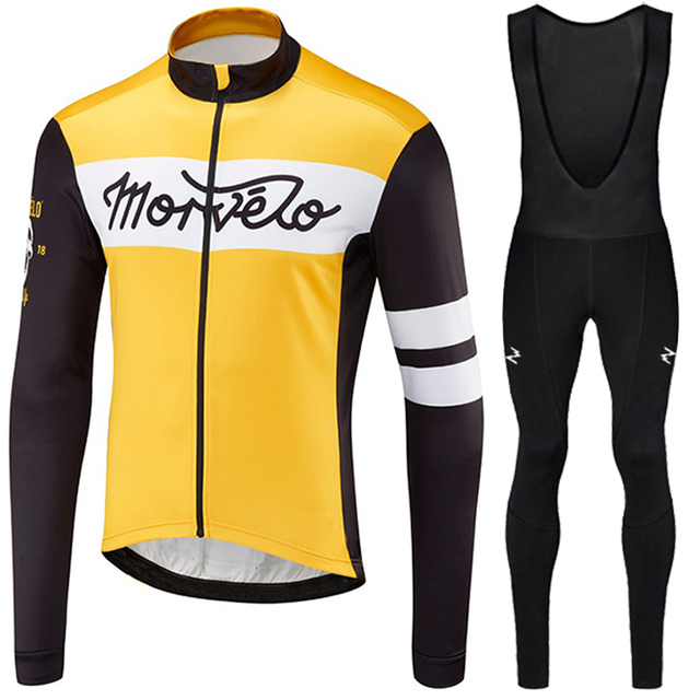 2018 winter thermal fleece long sleeve cycling jersey set mens bicicleta  roupa ciclismo bike maillot ciclismo hombre ropa hombre d3c8f22a2