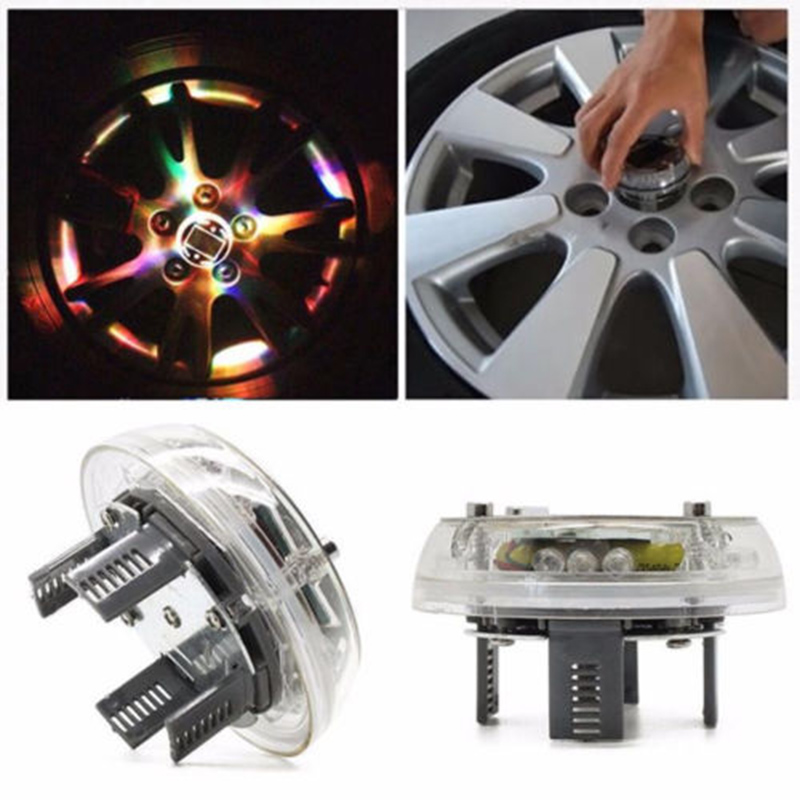 High Qrade 4 Modes 12 LED RGB Car Auto Solar Energy Flash Wheel Tire Rim Light for Auto Car Decoration Colorful Atmosphere Lamp