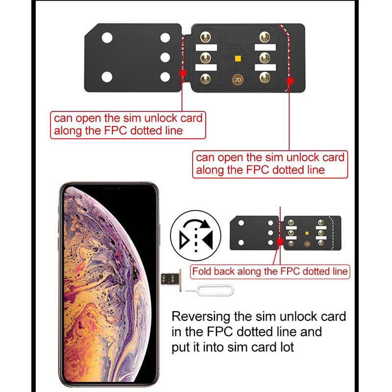 R-SIM14 X RSIM14 RSIM-14 Ultra ICCID Unlock SIM Card Tool For iPhone 6 7 8  PLUS X XR XS XS MAX