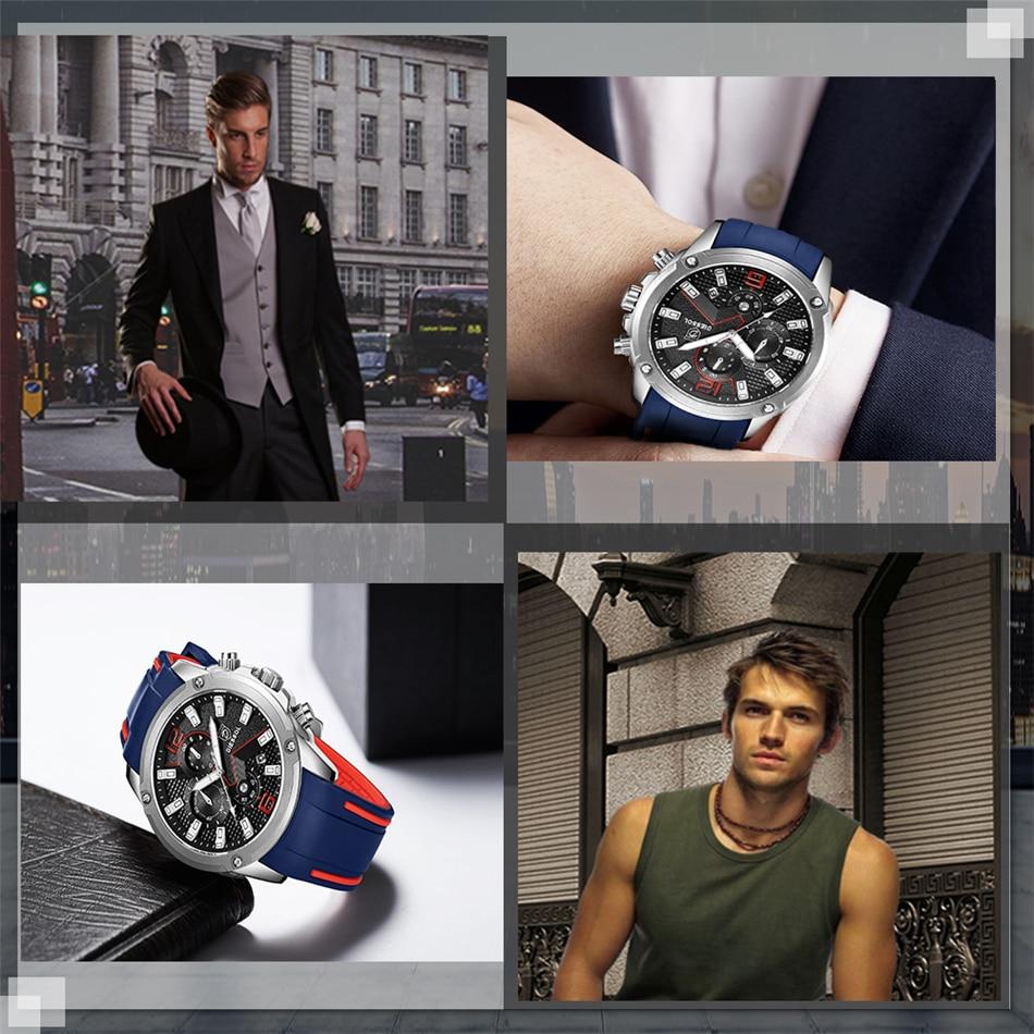 DIESSOL Men's Fashion Sports Quartz Watch Mens Watches Top Brand Luxury Rubber Band Waterproof Business Watch Relogio Masculino 34