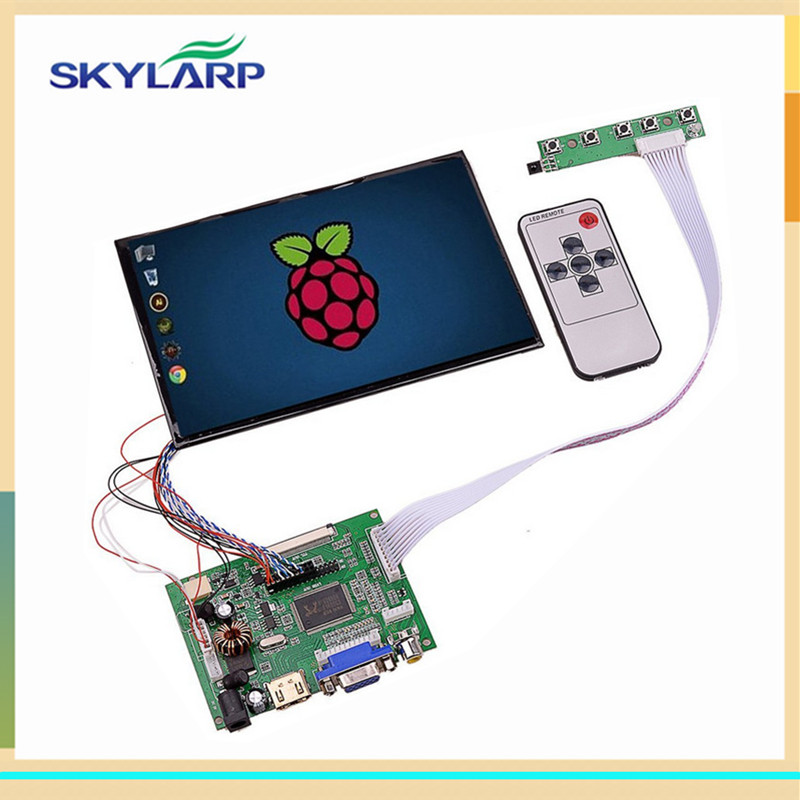 Skylarpu 7''inch 1280*800 IPS 39 Pins Screen Multifunctional Driver Board with AV2 HDMI VGA for Raspberry Pi (without touch) skylarpu 7 inch 1280 800 lcd screen ips screen with remote driver control board 2av hdmi vga for raspberry pi without touch