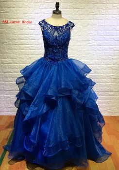 a7eb598e6 Lujo Rojo Azul Real 2016 Vestidos de Quinceañera Balón vestido Dulce 16  Años de La Princesa Vestidos De 15 Años Vestidos De 15 Anos